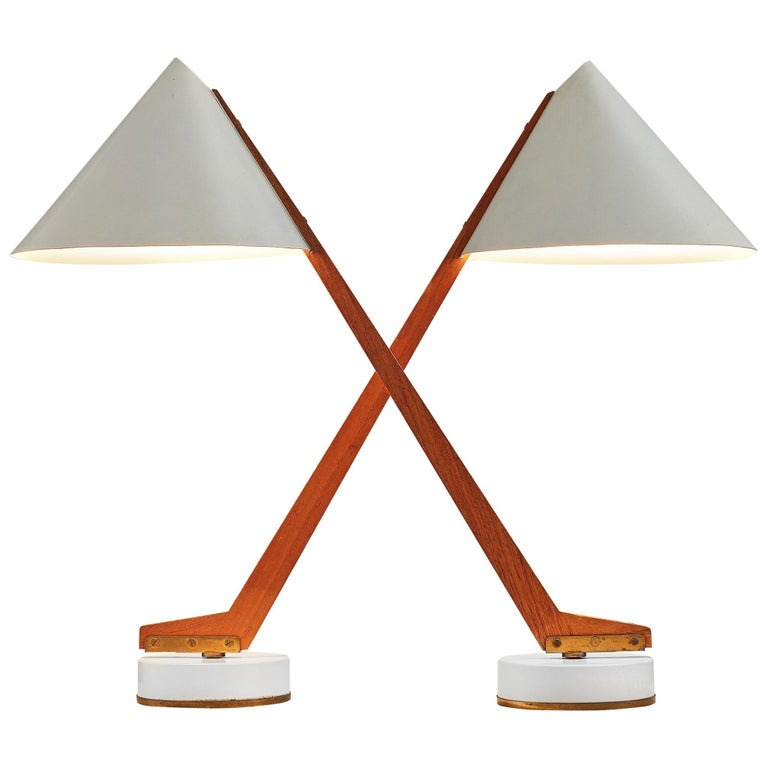 Hans Agne Jakobsson Pair of 'B54' Table Lamps For Sale