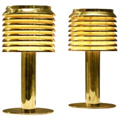Hans-Agne Jakobsson Pair of Brass Table Lamps Model 'B-142'