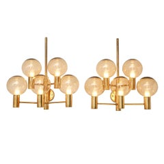 Hans-Agne Jakobsson Pair of Wall Lights in Brass
