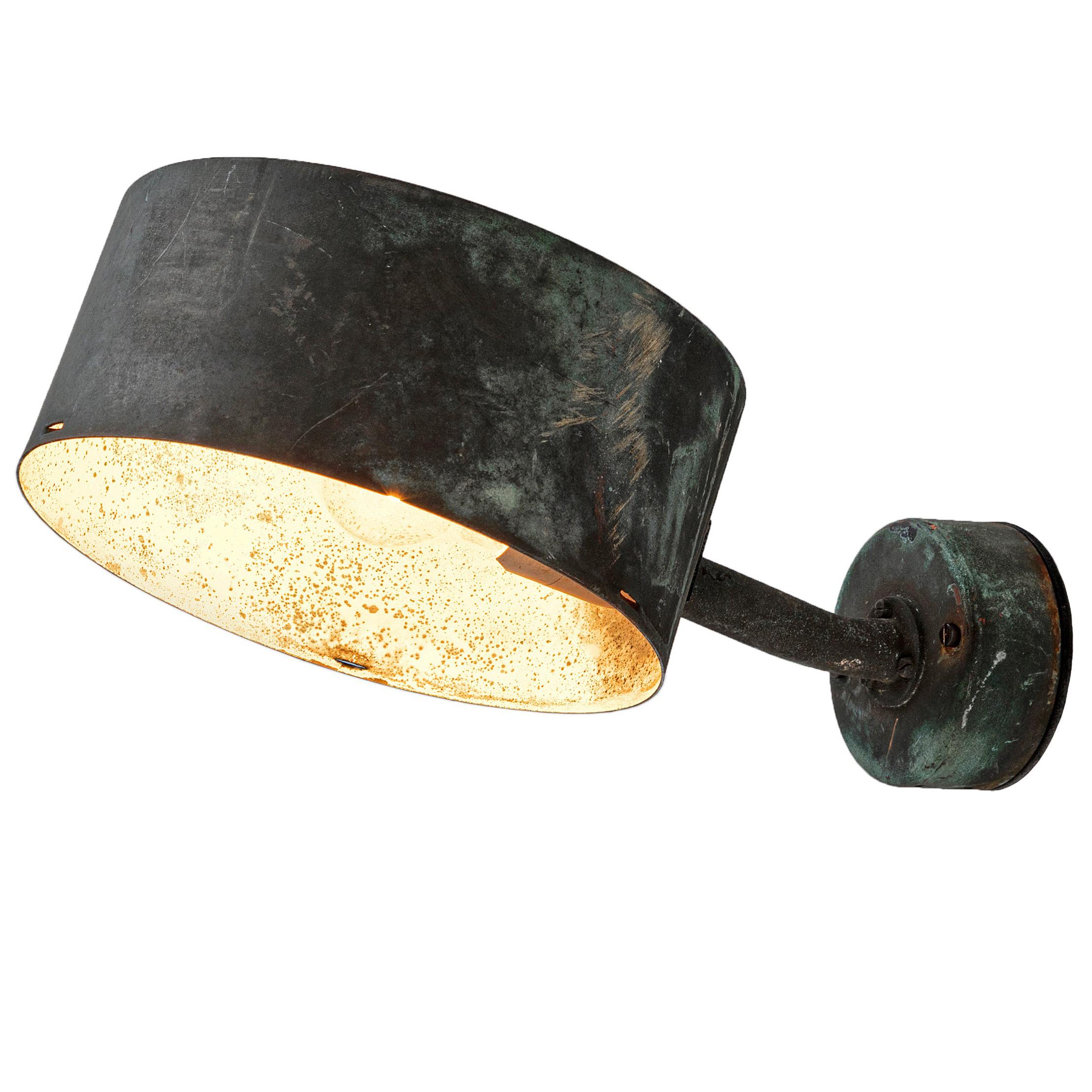 Hans-Agne Jakobsson Patinated Copper Wall Light