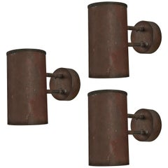 Hans-Agne Jakobsson 'Rulle' Wall Lights in Patinated Copper