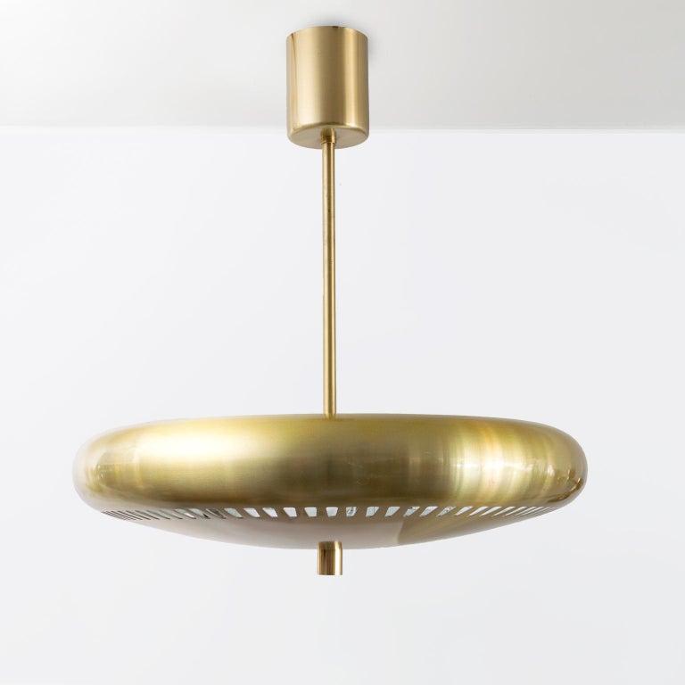 Plated Hans-Agne Jakobsson Scandinavain Modern Uplight Pendant 'B' For Sale