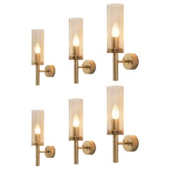 Hans-Agne Jakobsson Set of Six 'Sonata' Wall Lights V-169