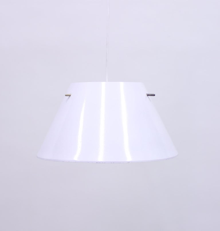 Scandinavian Modern Hans-Agne Jakobsson, Sheet Metal Ceiling Lamp, 1970s For Sale