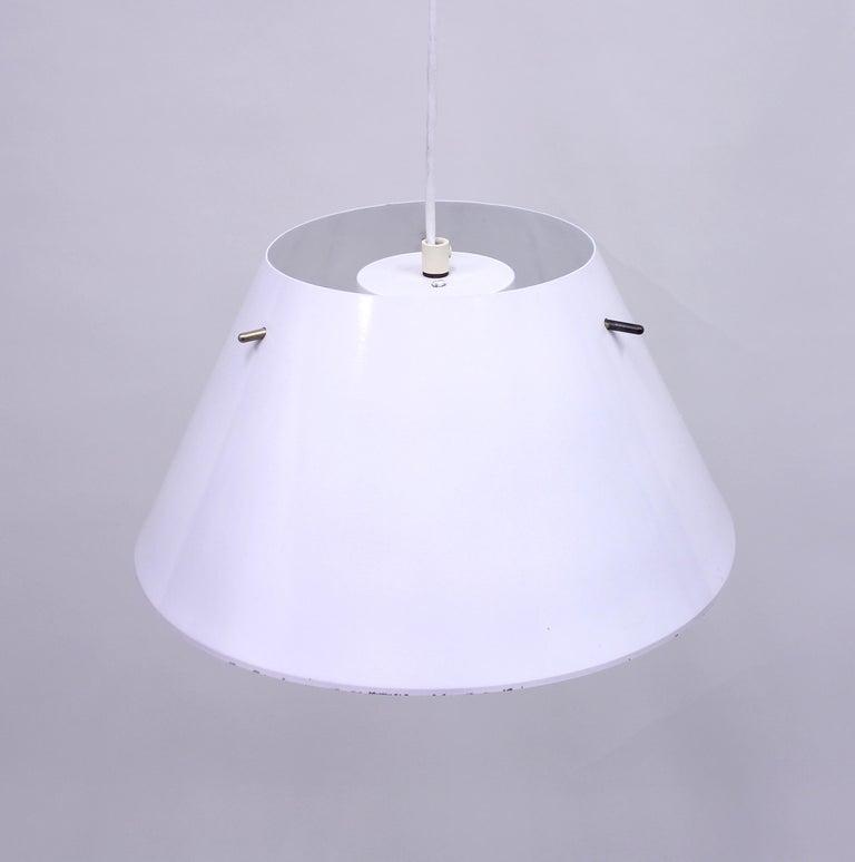 Swedish Hans-Agne Jakobsson, Sheet Metal Ceiling Lamp, 1970s For Sale