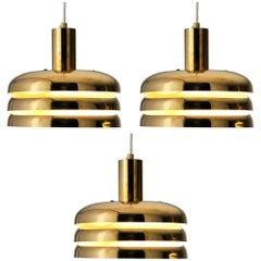 Hans-Agne Jakobsson 'T-724M' Pendants in Brass