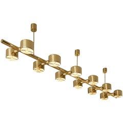 Hans-Agne Jakobsson T746/12 Chandelier in Brass