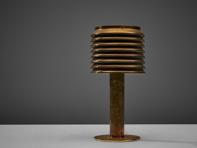 Hans-Agne Jakobsson Table Lamp in Brass For Sale 5
