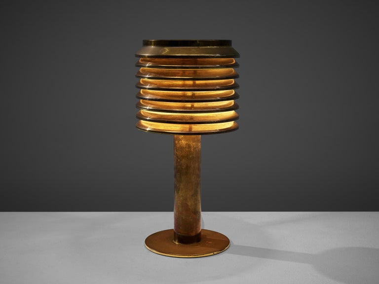 Swedish Hans-Agne Jakobsson Table Lamp in Brass For Sale
