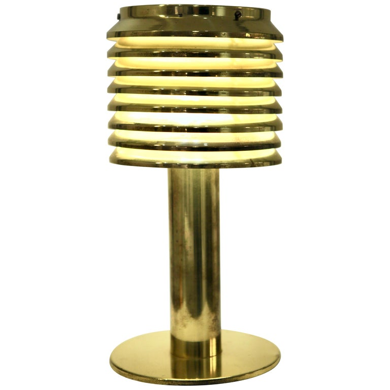 Hans-Agne Jakobsson, Table Lamp in Brass, Model B 142, Sweden 1960s For Sale