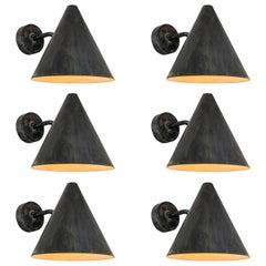 Hans-Agne Jakobsson 'Tratten' Darkly Patinated Copper Outdoor Sconces
