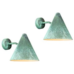 Hans-Agne Jakobsson 'Tratten' Patinated Copper Outdoor Sconces