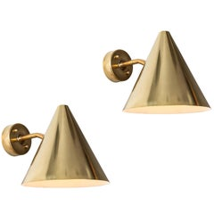 Hans-Agne Jakobsson 'Tratten' Polished Brass Outdoor Sconces