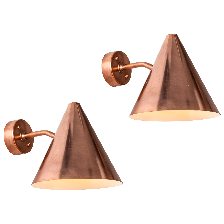 Hans-Agne Jakobsson 'Tratten' Polished Copper Outdoor Sconces