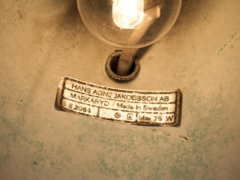 Hans-Agne Jakobsson 'Tratten' Wall Lights in Patinated Copper For Sale 2