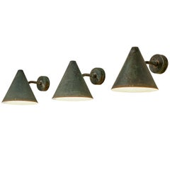 Hans-Agne Jakobsson 'Tratten' Wall Lights in Patinated Copper