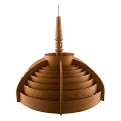 Hans Agne Jakobsson, Wooden Ceiling Lamp, 1960s