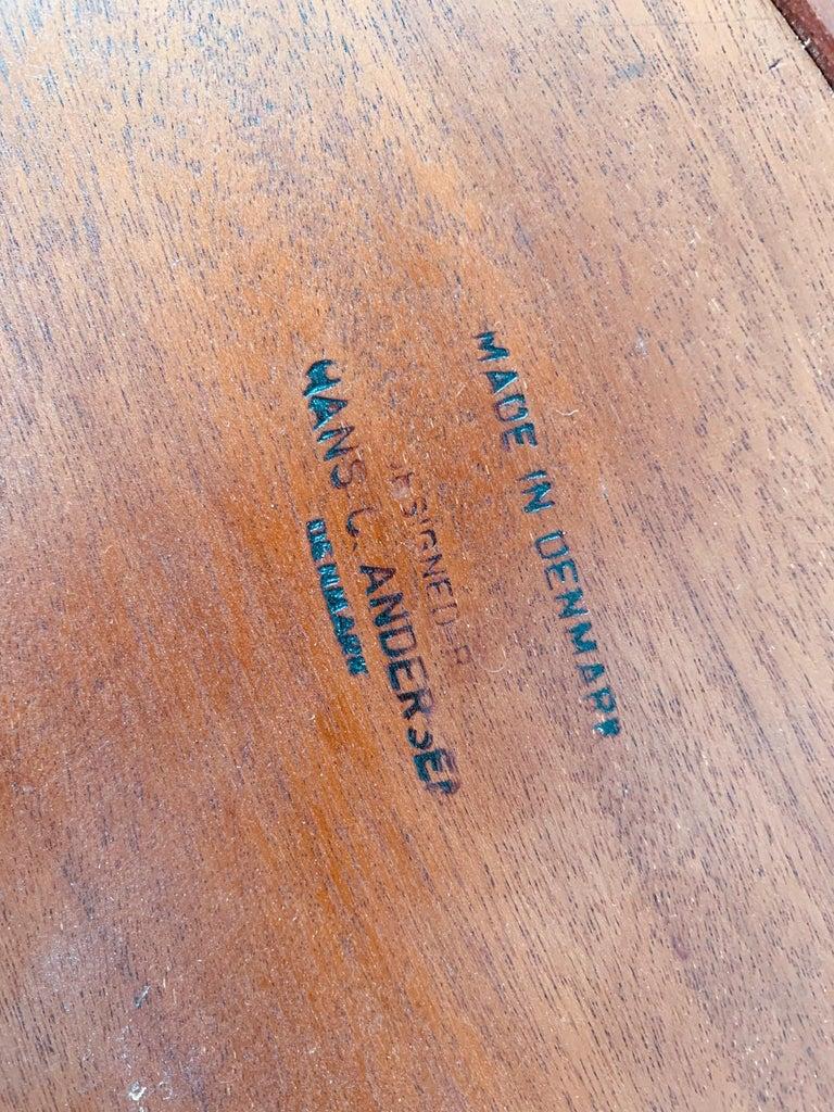 Mid-Century Modern Hans Andersen Danish Side Table For Sale
