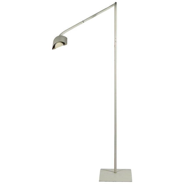 Hans Ansems, Floor Lamp, Luxo Edition, Lacquered Metal, circa 1970, Italy For Sale