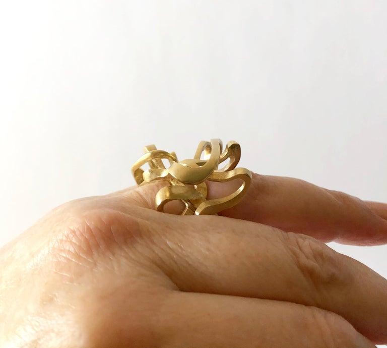 Hans Appenzeller 14 Karat Gold Dutch Postmodern Sculptural Ring For Sale 3