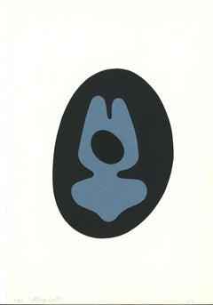 Composition - Original Lithograph by Jean Hans Arp - 1957