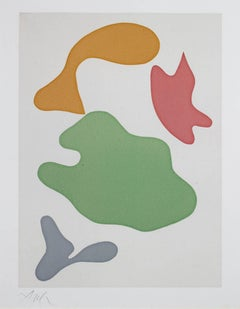 """Constellation,"" original color woodcut, edition of 75 by Jean (Hans) Arp"