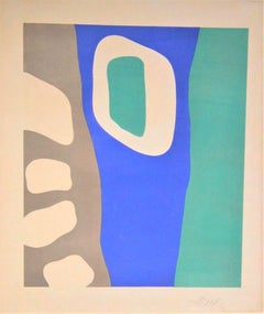 Coulisses de Fôret, Original Lithograph by Jean Hans Arp