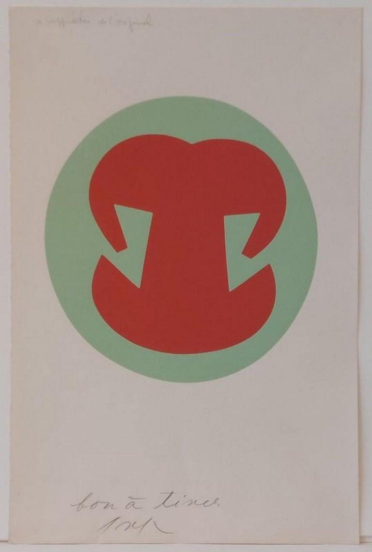 Hans Arp Abstract Print - No title
