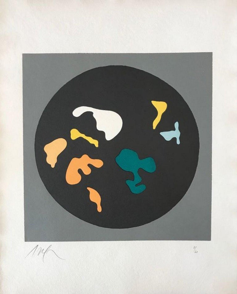 Hans Arp Abstract Print - Soleil recerclé