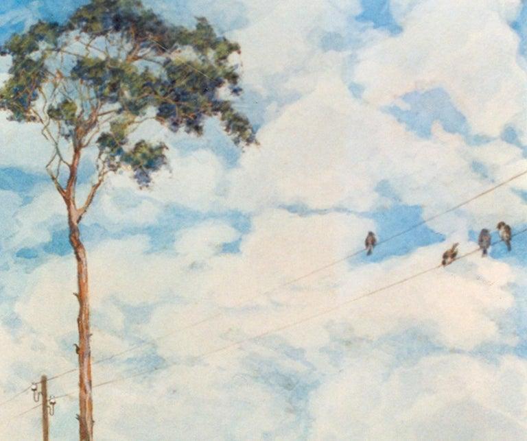 Hans Baluschek Sommer an der Havel ( Summer On The River Havel ), 1934 - Gray Landscape Painting by Hans Baluschek