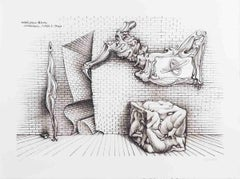 1970 Hans Bellmer 'Forms and Shapes' Surrealism Black & White USA Etching