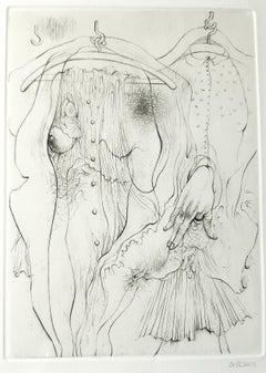 A Sade - Original Etching by H. Bellmer - 1969