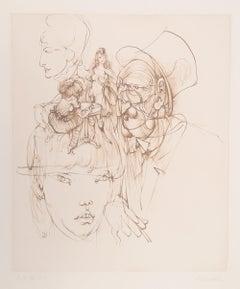 Alice in Wonderland, Surreal Etching by Hans Bellmer