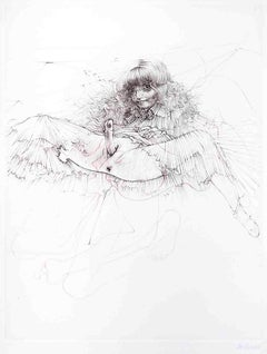 L'Aigle Mademoiselle - Original Etching by H. Bellmer - 1968