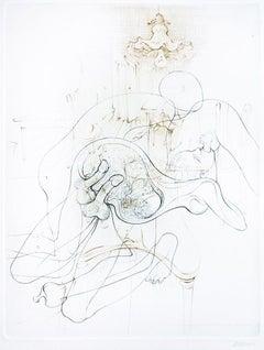 Les Crimes de l'Amour - Original Etching by H. Bellmer - 1968