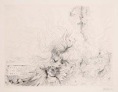 Les Milles en Feu, Surrealist Etching by Hans Bellmer