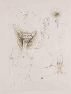 Madame est servie - 1960s - Hans Bellmer - Etching - Contemporary