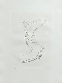 Reverse Nude - Original Etching Hand Signed Numbered - 100 copies