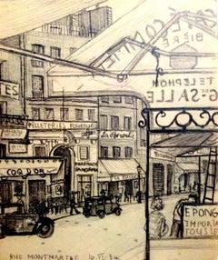 Rue Montmartre - 1930s - Hans Bellmer - Drawing - Surrealism