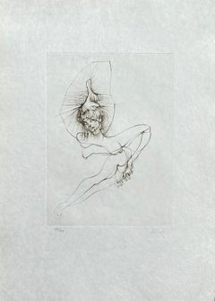 Surrealist Nude - Original Etching Hand Signed Numbered - 100 copies