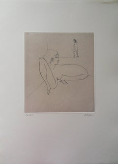 The Staring Woman - Original Etching Handsigned, Numbered
