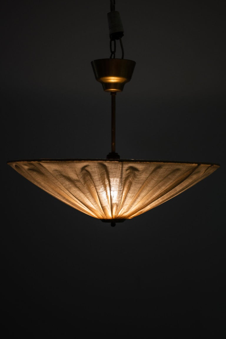 Scandinavian Modern Hans Bergström Ceiling Lamp / Flush Mount by Ateljé Lyktan in Åhus, Sweden For Sale