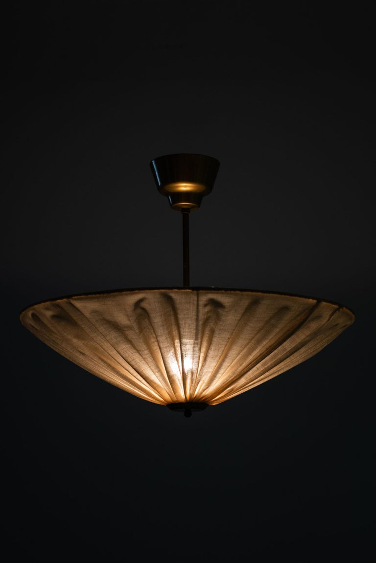 Mid-20th Century Hans Bergström Ceiling Lamp / Flush Mount by Ateljé Lyktan in Åhus, Sweden For Sale