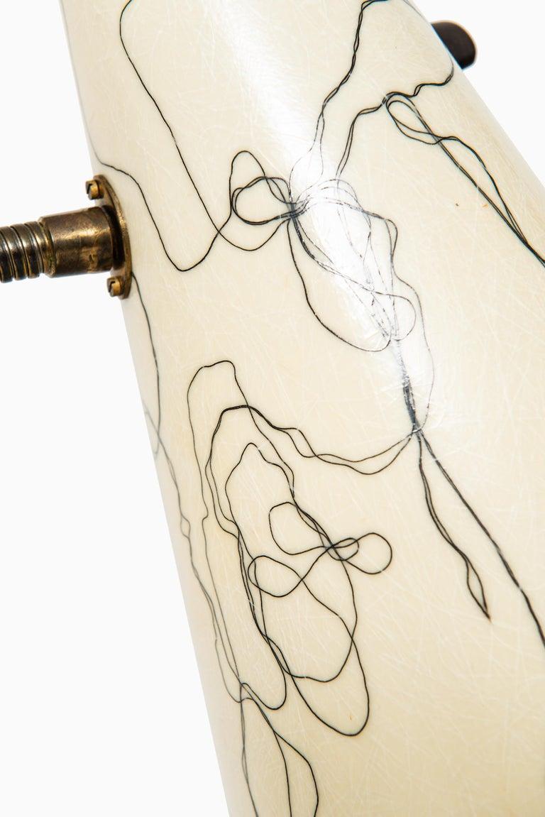 Scandinavian Modern Hans Bergström Floor Lamp Produced by Ateljé Lyktan in Sweden For Sale