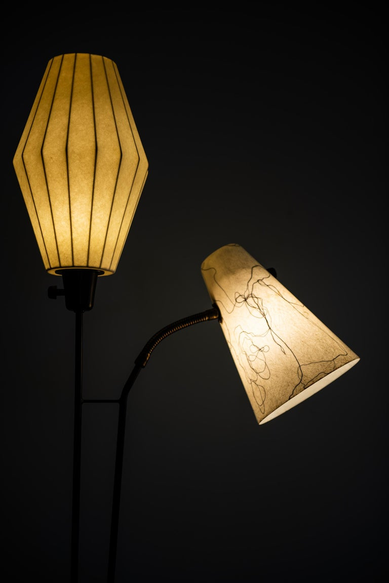 Mid-20th Century Hans Bergström Floor Lamp Produced by Ateljé Lyktan in Sweden For Sale