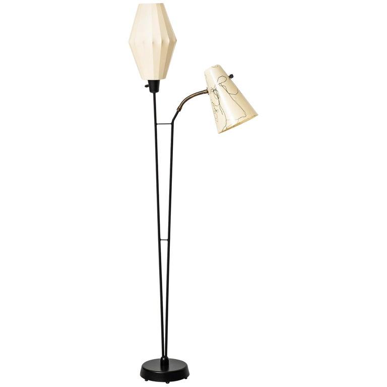 Hans Bergström Floor Lamp Produced by Ateljé Lyktan in Sweden For Sale