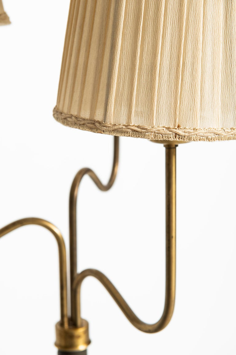 Mid-20th Century Hans Bergström Floor Lamp with 3 Arms Produced by ASEA in Sweden For Sale
