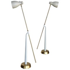 Hans Bergström Model 541 Floor Lamps for Atelje Lyktan, Sweden, circa 1945