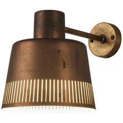 Hans Bergström Rare Wall Lamp Model 1006A in Copper