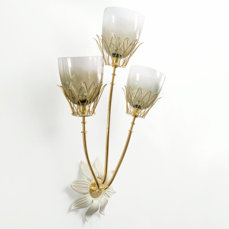 Hans Bergstrom, Scandinavian Modern Sconce for Ateljé Lyktan, Sweden In Good Condition For Sale In New York, NY